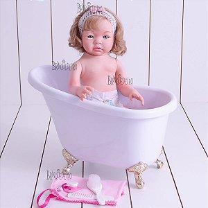 Bebe Reborn de Silicone Original Corpo para Banho Barato