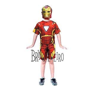 Fantasia Infantil Iron Man Curta com Máscara