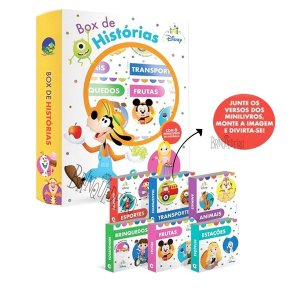 Livro Para Bebês Box Disney 6 Minilivros Capa Dura Educativo