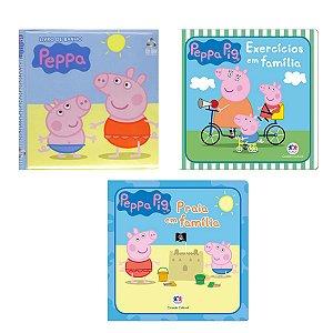 Kit 3 Livros de Banho Bebê Peppa Pig