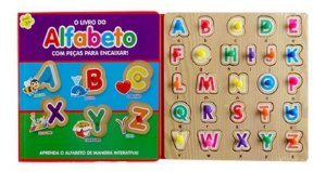 Livro Sensorial Peças Para Encaixar O Livro Do Alfabeto