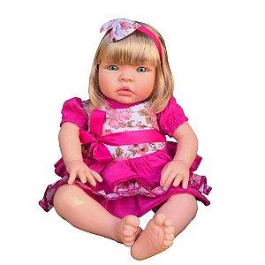 Boneca Bebê Reborn Corpo Algodão e Tnt Chora e Balbucia Loir