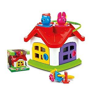 Brinquedo Para Bebê Casinha Didática Formas e Cores
