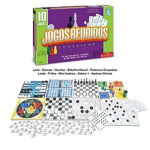 10 Jogos de Tabuleiros Clássicos Jogos Reunidos - Nig
