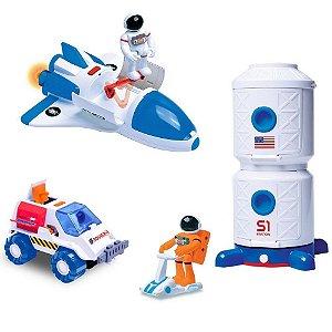 Brinquedo Kit Astronautas Exploradores do Espaço - Fun