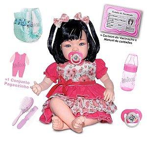 Boneca Bebê Reborn Com Acessórios Morena ou Loira