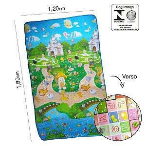 Tapete Infantil - Estampa Castelo c/ Bichinhos x Alfabeto P