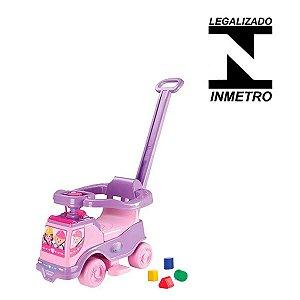 Carrinho Motoca Infantil Para Menina 8 em 1 Rosa