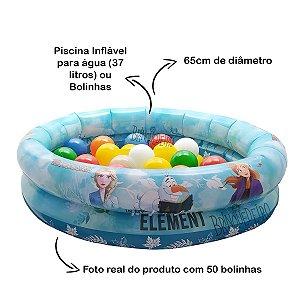 Piscina de Bolinha Infantil Frozen com 50 Bolinhas