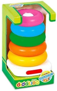 Brinquedo Para Bebê Argolas didática Coloridas Poliplac