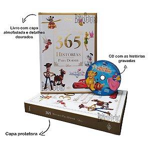 Livro Infantil 365 Historias Para Dormir Disney Luxo + Cd