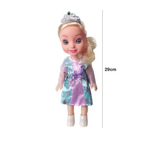 Boneca Princesa Elsa Frozen Com Coroa