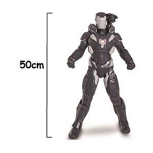 Boneco Articulado Gigante Vingadores War Marchine 50 Cm
