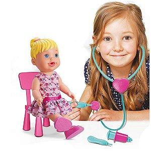 Boneca Doutora Loira Com Acessórios Diver Toys