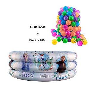 Piscina de Bolinha Infantil Frozen 100L  com 50 Bolinhas
