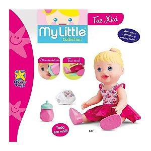 Boneca Bebê Faz Xixi Loira Diver Toys