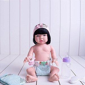 Boneca Bebê Reborn Morena Corpo 100% Vinil Siliconado