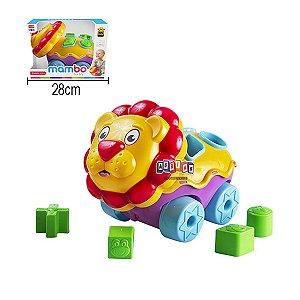 Brinquedo Leão Didático Colorido Divertido
