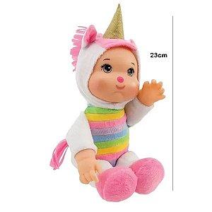 Brinquedo Boneca Macia Fuffly Unicórnio Meninas Coleção