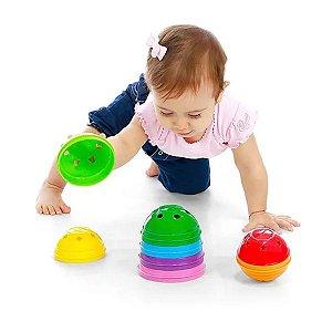 Brinquedo Bebê Bola Didática Colorida Divertida
