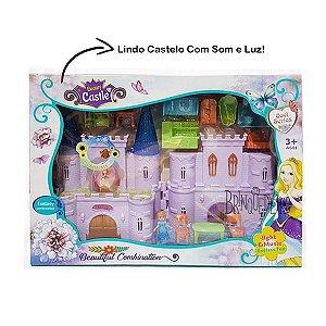 Brinquedo Castelo Musical Princesas Com Luz e Acessórios