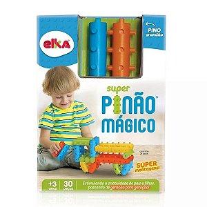 Brinquedo Para Bebê Super Pinão 30 peças Macio Elka