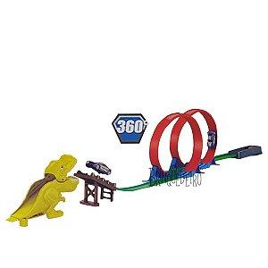 Brinquedo Pista Radical Dinossauro com Lançador e Carro