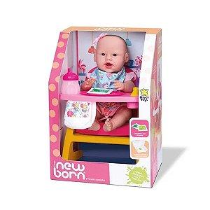 Boneca Bebê Reborn Minha Primeira Papinha