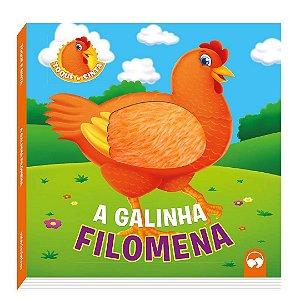 Livro a Galinha Filomena Toque e Sinta Vale das Letras