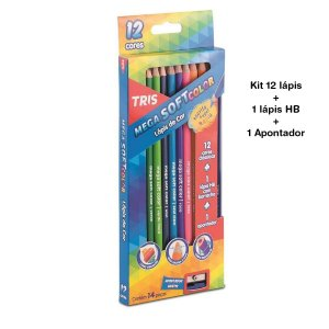 Lápis de Cor Mega Soft Color 14 peças Tris