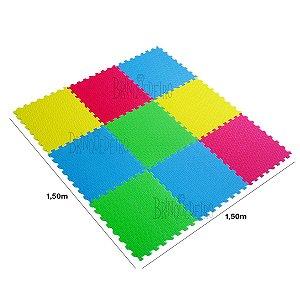 Kit Tapete de Eva 9 Peças Colorido