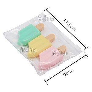 Kit 3 Mini Marcadores Cores Pastel Picolé