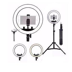 Ring Light Iluminador Estúdio Para Fotos Maquiagem