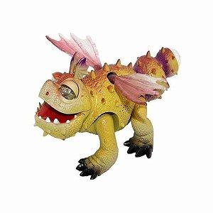 Brinquedo Dragão Com Asas Anda Faz Som e Brilha