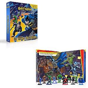 Brinquedo Com Personagens Turma Batman + Livro E Cenário Gigante