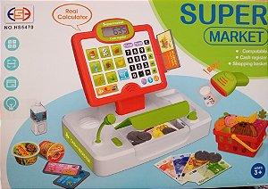 Aprendendo e se divertindo com SUPER MARKET caixa registradora