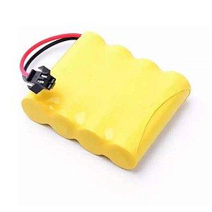 Bateria 4.8V com 4 Pilhas Recarregável 2.700mah