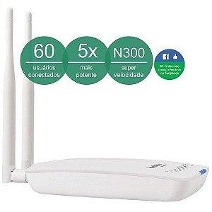 Roteador Wireless Corporativo Wireless N de 500mW HotSpot 300 2.0 com Check-in Facebook e função Splash Page - Intelbras