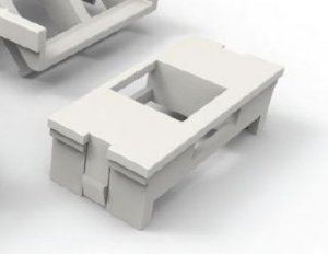 Módulo adaptador 1 porta branco 35060039 - Furukawa