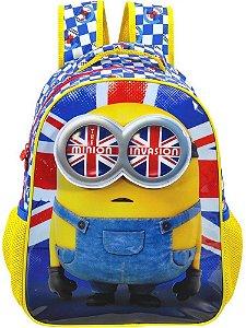 Mochila Escolar Infantil Minions British Invasion