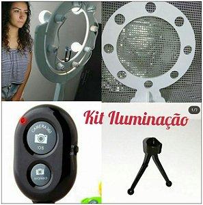 Kit iluminação - Ring Light Coluna 45, 32 cm, tripé