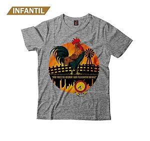 Camiseta Infantil Eloko Cantar do Galo