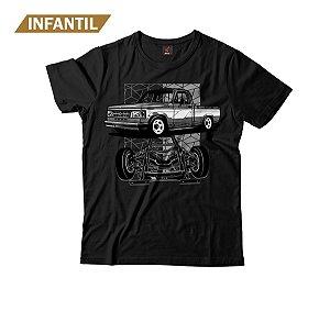 Camiseta Infantil Eloko D20 Chassi Cinza