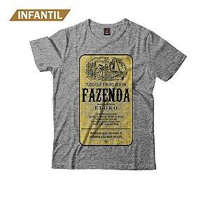 Camiseta Infantil Eloko Fazenda