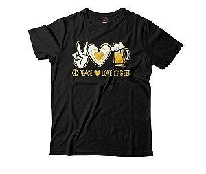 Camiseta Eloko Peace, Love, Beer