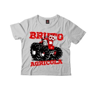 Camiseta Infantil Eloko Bruto Agrícola - Vermelho