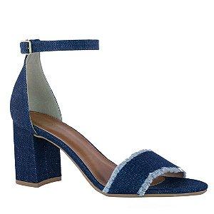 Sandália Clássica Jeans Azul com Salto - 10989338