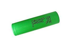 Samsung 25r  Li-Ion 18650 (2500mAh High Drain 20A )