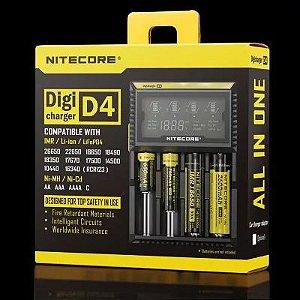 D4 Li-ion Ni-MH NiCd LiFePO4 4 Canais