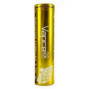 VAPCELL 20700 GOLD  30A FLAT TOP 3100MAH BATTERY